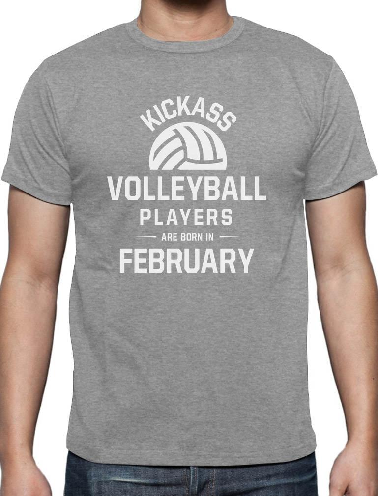 Funny Present Birthday Gifts For Volleyball Fan Son Boys Men Players Are Born In February 100 Cotton T Shirt On Hilarious