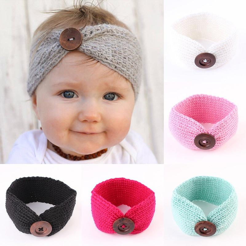 Großhandel Süße Neugeborene Baby Turban Ohr Wärmer Stirnband Häkeln