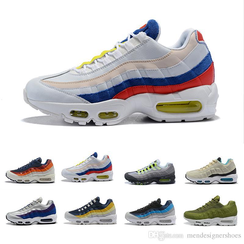 45beae4f435 Compre Zapatos De Los Hombres 95 Zapatos Corrientes Para Las Mujeres  Hombres Nebulosa Azul Deportes Respirables Negro Blanco Rojo Zapatillas De  Deporte Para ...