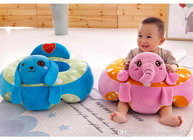Cartoon animal baby Support Seat Sofa Baby Learning To Sit Chair Comfortable Travel Car Seat Pillow Cushion Plush Toys