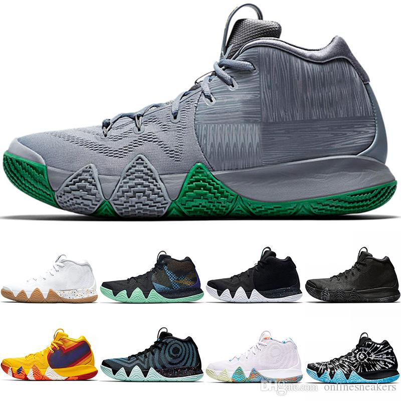 the best attitude d3a6a b21ff Kyrie Irving 4 4s Men Basketball Shoes Uncle Drew Triple Black Oreo 70s 80s  90s Mamba Mentality Red Carpet Discount Sport Sneaker 40-46