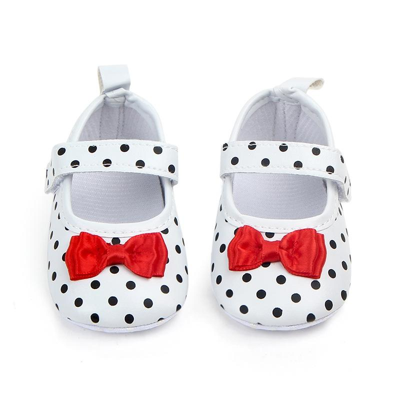 Baby Girl Shoes Toddler Infant Anti-slip Polka Dot PU First Walkers Shoes Kids Footwear For Girls