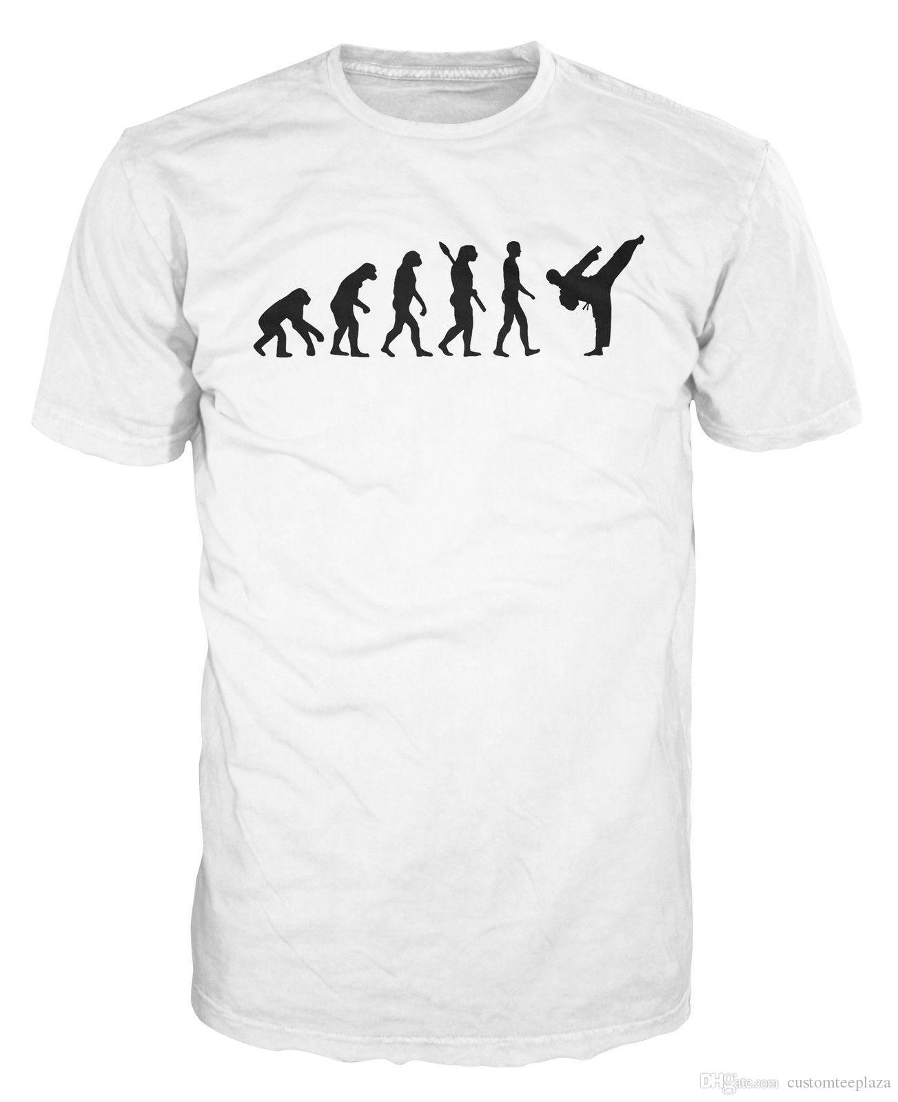ec27529ee Karate Evolution Mma Martial Arts Taekwondo Funny T Shirt Tee Shirts Short  Sleeved Fashion Designer T Shirt Couple XXXL Size Best Funny Shirts Funny  Print ...