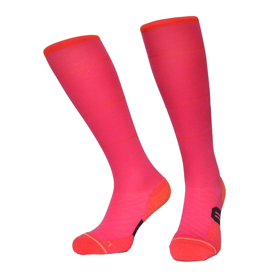 d7e60bf654d 2019 Socks Colorful Red Running Sock Quick Drying Nylon Cycling Ski Hiking Knee  High Outdoor Red Sports Sock For Men And Women From Miaoshakuai