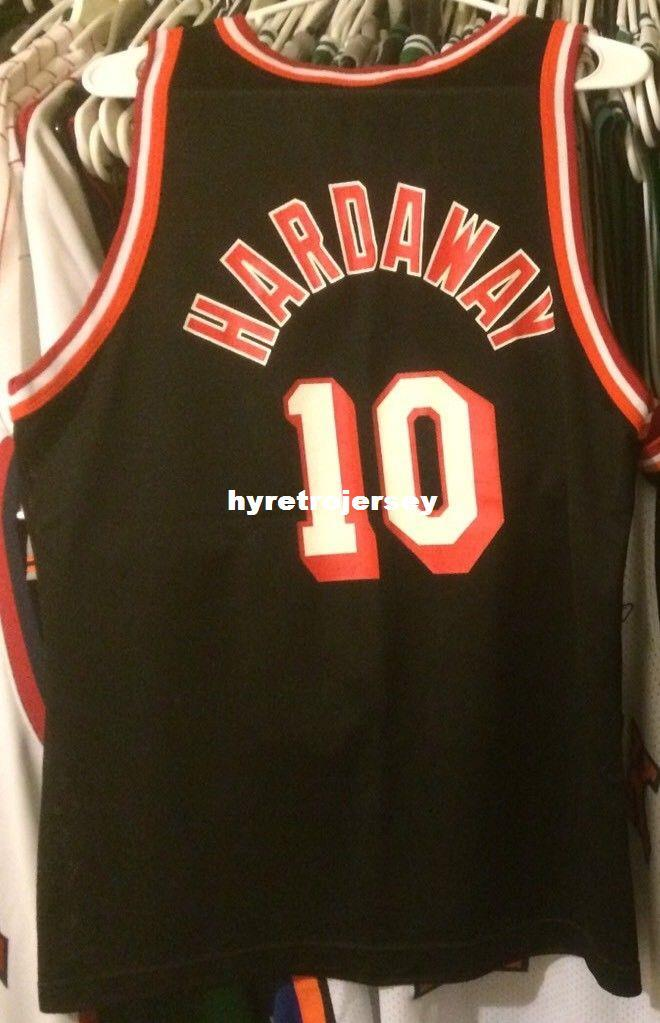 f67ae8c69 Cheap Wholesale Tim Hardaway Jersey Champion Men Black  10 Rare Top ...