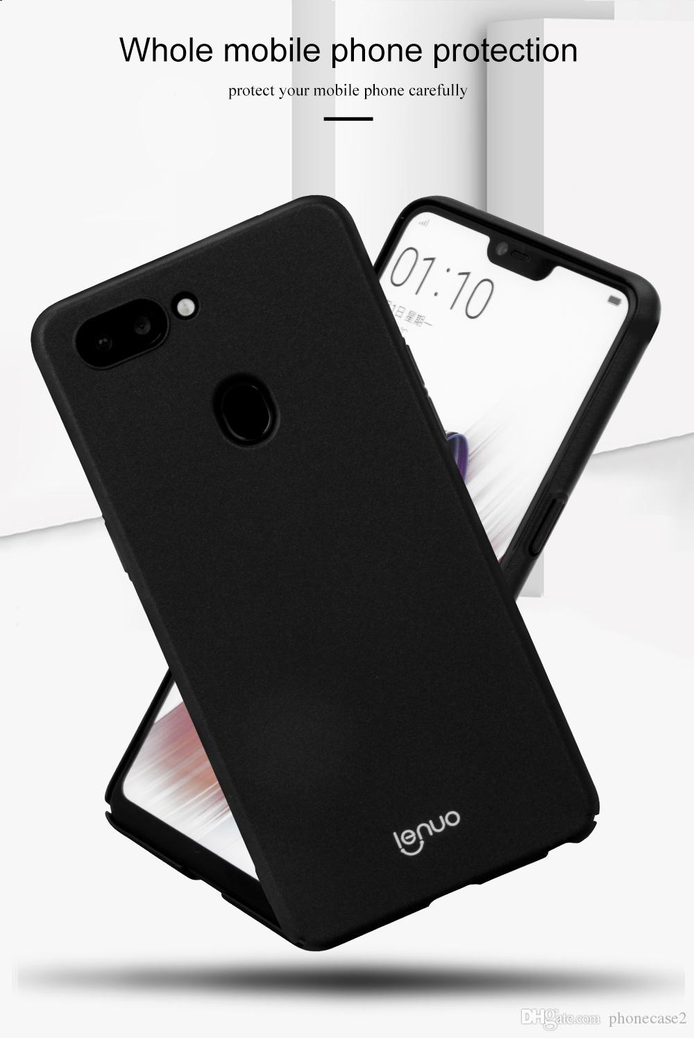 brand new 93e3e 32fd9 OPPO R15 Dream Mirror Edition Case OPPO R15 Cover Lenuo Le Shield Luxury  Hard PC Back Cover Case For OPPO R15 Pro Phone Cases Tough Cell Phone Cases  ...