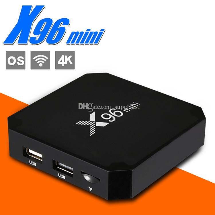 X96 Mini TV Box Android 7.1 TV BOX 2GB 16GB Amlogic S905W Quad Core IPTV Smart Box with Retail Package