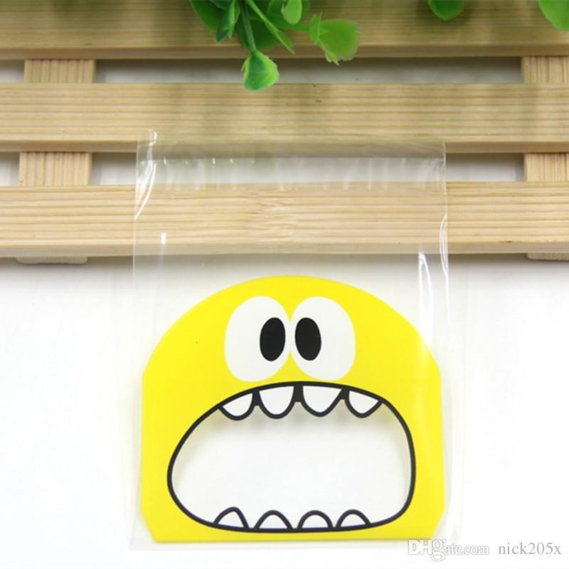 10X10CM Cute Cartoon Monster Cookie&Candy Bag Self-Adhesive Plastic Bags For Biscuits Snack Baking Package Easter Day Supplies