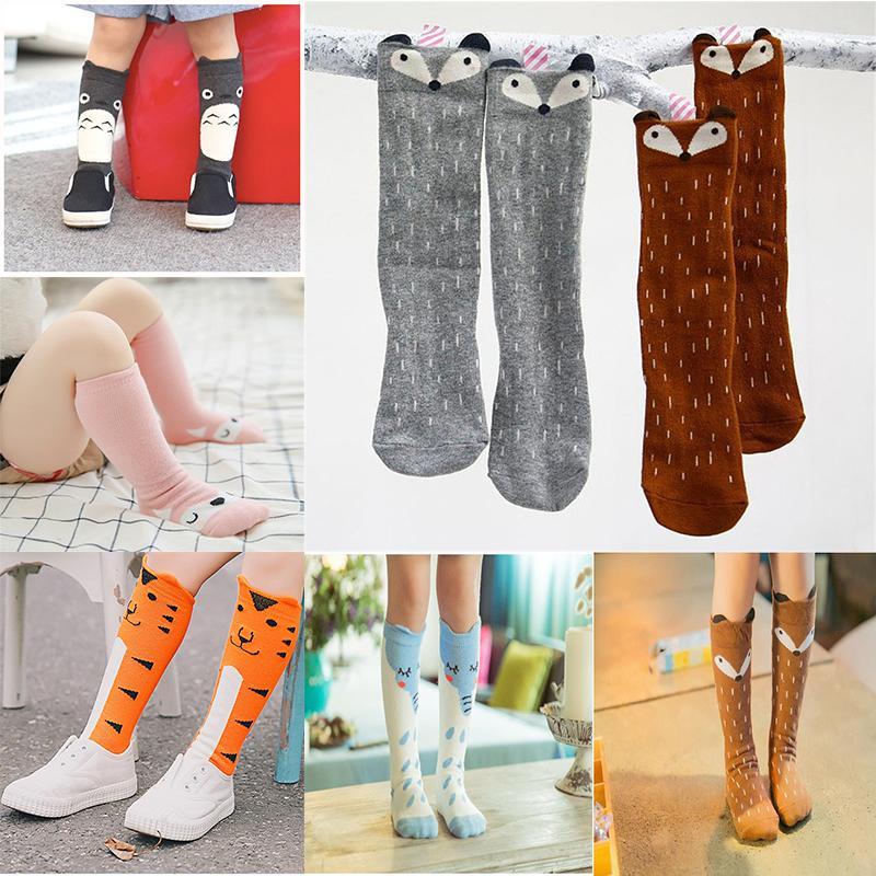 ee77264bf Baby Girls Knee High Socks Kids Children Cute Lace Bows Princess Leg  Warmers Solid Cotton Girl Long Tube White Socks 1 3years Colorful Dress  Socks Grey ...