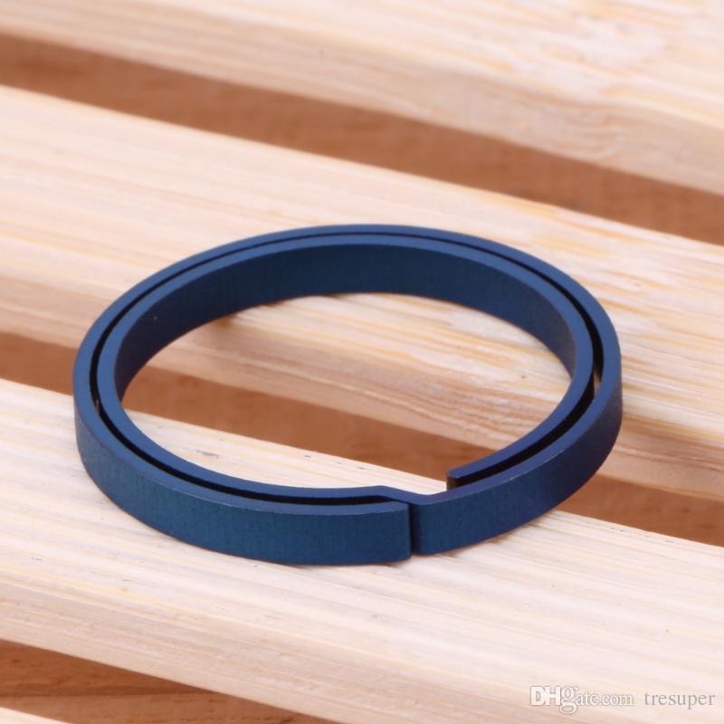 1 stück blau titanium edc schlüsselanhänger reine schlüsselanhänger split hängen schnalle schlüsselanhänger schraubendreher edc set outdoor tragbare mini tasche werkzeug