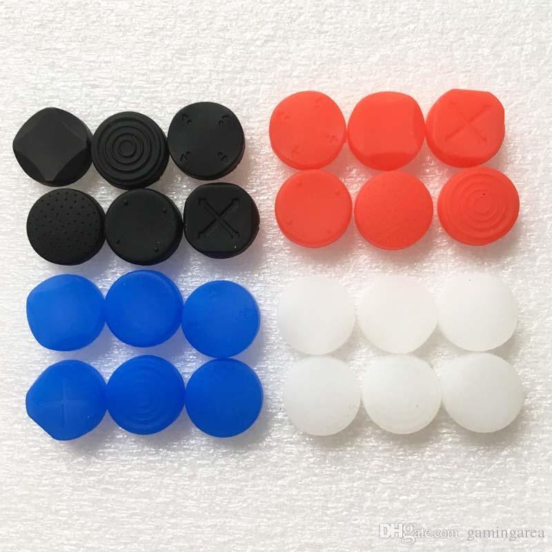 Bouton en silicone 6 en 1 Protector Analog Thumb Stick Rocker Cap Cover Kit de protection pour PSV PS Vita 1000 2000 pour PSV1000 PSV2000 FAST SHIP