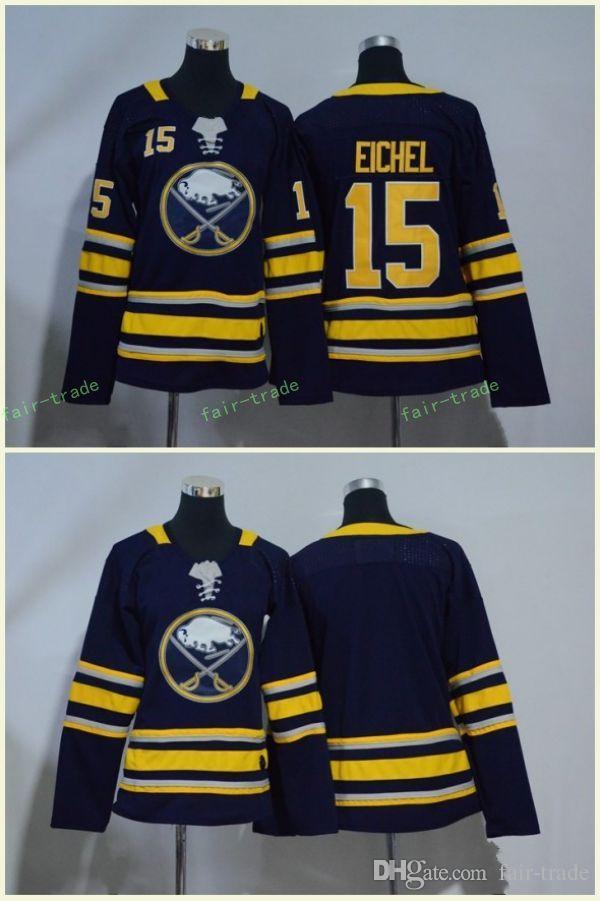 Купить Оптом Buffalo Sabers 15 Jack Eichel Jerseys Blank Blue All Stiched Hockey  Jersey Мужчины Женщины Молодежные Дети Мальчики Девушки Отfair Trade В ... b8850ee6946