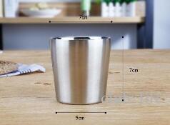 Нержавеющая сталь чашка воды кружка кофе двойная стена вино пиво чай чашки портативный отдых путешествия Drinkware ZJ8740