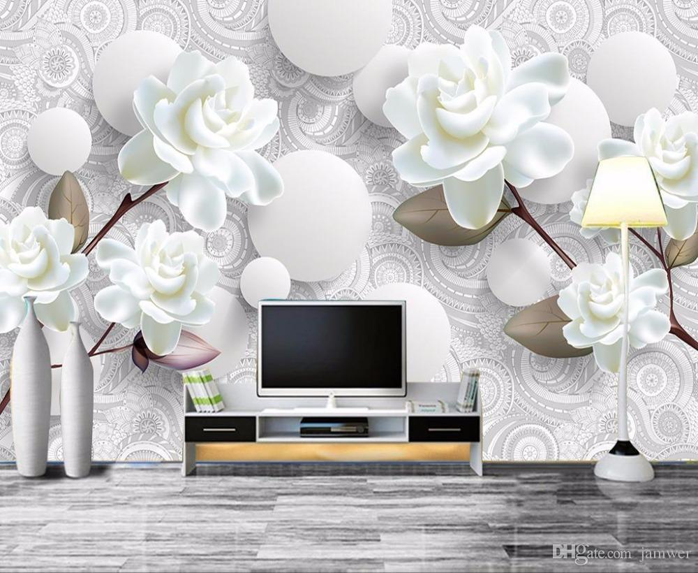 European Luxury 3d Wallpaper Mural Photo Flower Brief 3d Wallpaper