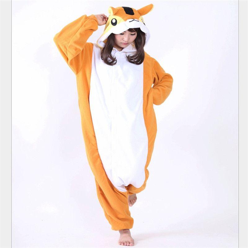 ca6ec15bfc21 2019 Wholesale Animal Kigurumi Squirrel Onesie Adult Unisex Cosplay Costume  Pajamas Sleepwear For Men Women Winter Christmas From Instrumenthome
