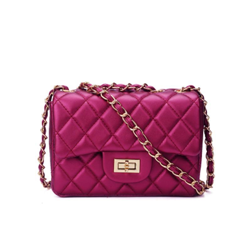 8fcece54c8d8 Jollque Women S Quilted Leather Bag Small Messenger Bags Chain Brand Designer  Mini Purse Handbag Sac S Main Crossbody Bag Pink Handbags Leather Handbag  From ...