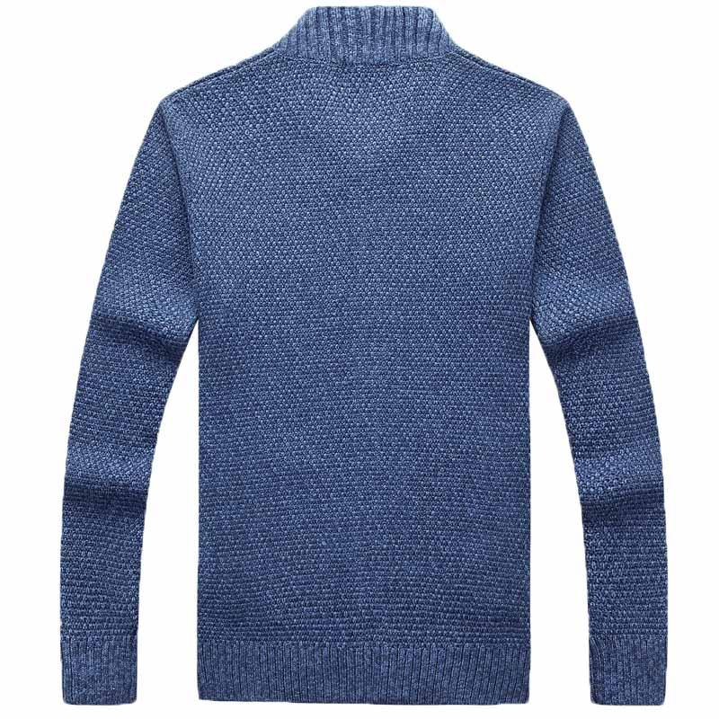 AFS JEEP 2018 Autumn And Winter New Men's Sweater Collar Long-Sleeved Solid Color Zipper Sweater Fashion Slim Top 85
