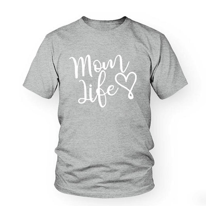 3f69b0753dc0 Women's Tee Mom Life Heart Letters Print Women Mother's Day Tshirt Cotton  Casual Funny T Shirt For Lady Girl Top Tee Hipster Gift