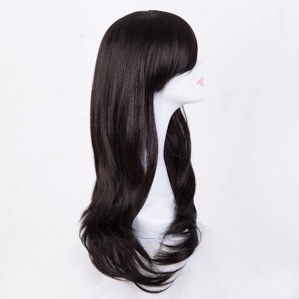 hairpiece bangs black halloween wig fei show synthetic heat