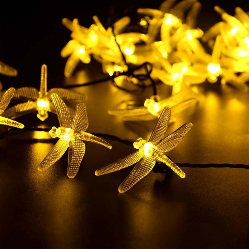 Solar Weihnachtsbeleuchtung.Solar Weihnachtsbeleuchtung 8 Modi Solar Dragonfly Fairy Lichterketten Fur Xmas Party Dekorationen
