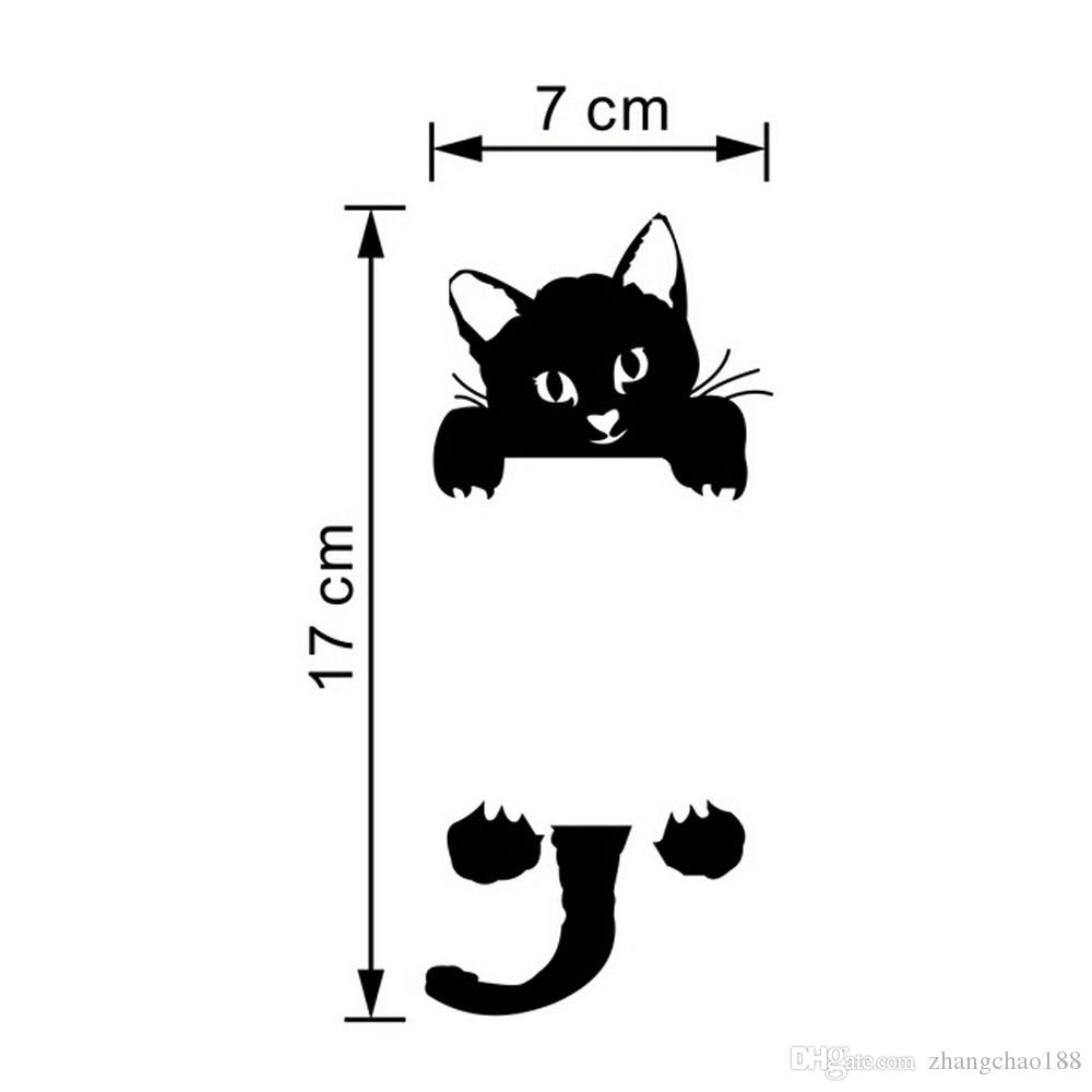 Hot Sale Cute New Cat Wall Stickers Light Switch Decor Decals Art Mural Baby Nursery Room Sticker PVC Wallpaper for living room CA-329