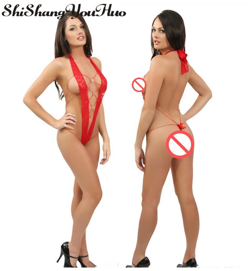 Shishangyouhuo Kadınlar Seksi Erotik Kostüm Lingerie Set Iç Çamaşırı Şeffaf Yapışık Takım Elbise Pijama Bodysuit Seksi Sıcak LTX
