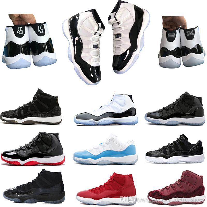 size 40 ff2bf aa4bf Compre Concord 45 Platinum Tint 11 Zapatos De Baloncesto 11s Rojo Negro  Fresco Gris Bred High Low Para Hombre Zapatillas De Deporte De Las Mujeres  Tamaño US ...