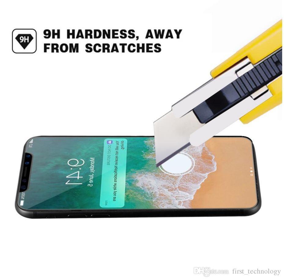 화면 보호기 강화 유리 클리어 아이폰 12 미니 11 Pro x XR XS Max Se LG Stylo 4 Samsung Galaxy S10E Box