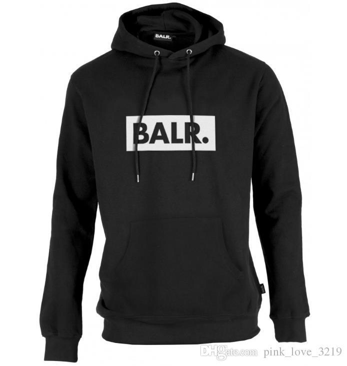 2018 Fleece BALR Casual Unisex Hoodies Sweatshirt Cool Hip Pop Pullover Mens&women Sportwear Coat Jogger Tracksuit Fashion
