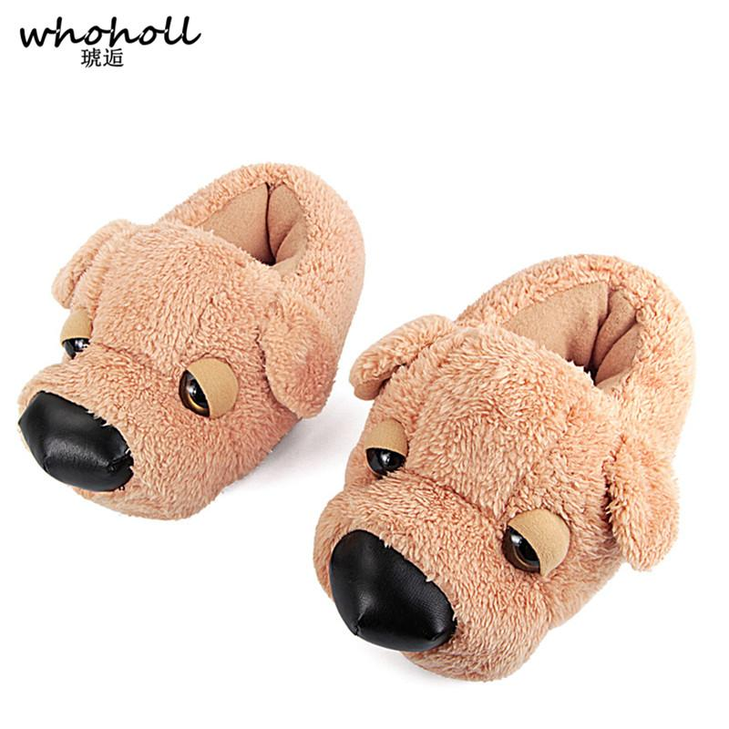 Wholesale Winter Fur Slippers Animal Funny Shoes For Menwomen