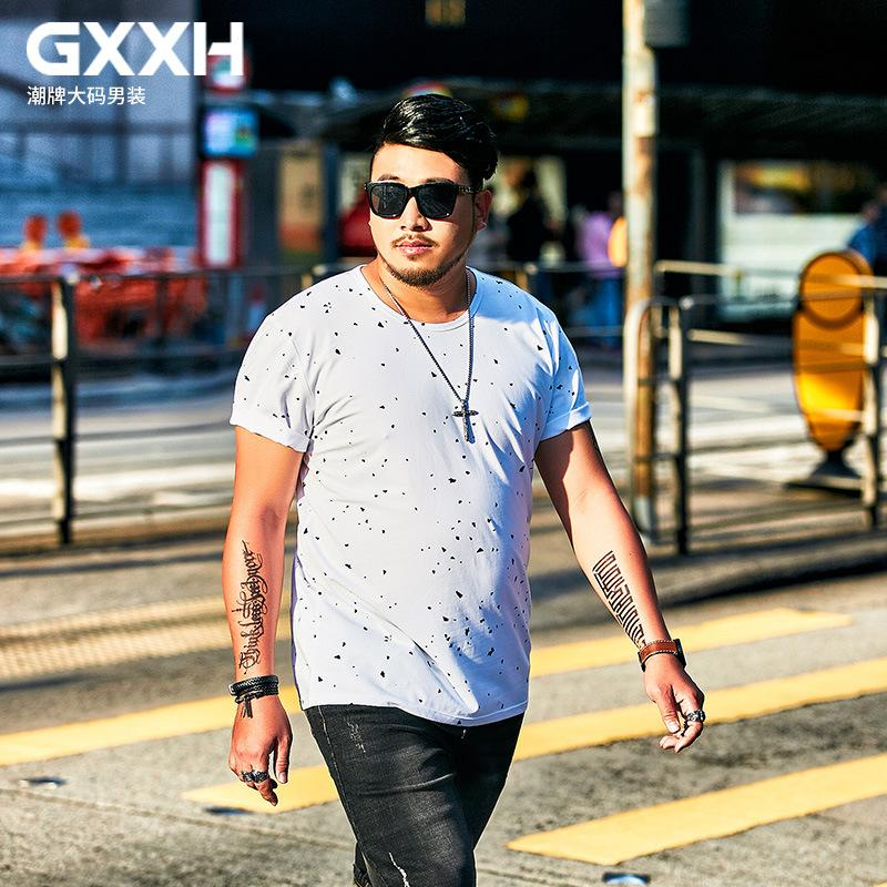 GXXH Summer Plus Big Size Men S Clothing T Shirt Fat Loose Fashion Print T  Shirt Short Sleeve Shirt Large Size Mens 7XL 6XL 5XL T Shirts In A Day  Awesome ... d141dbb57615