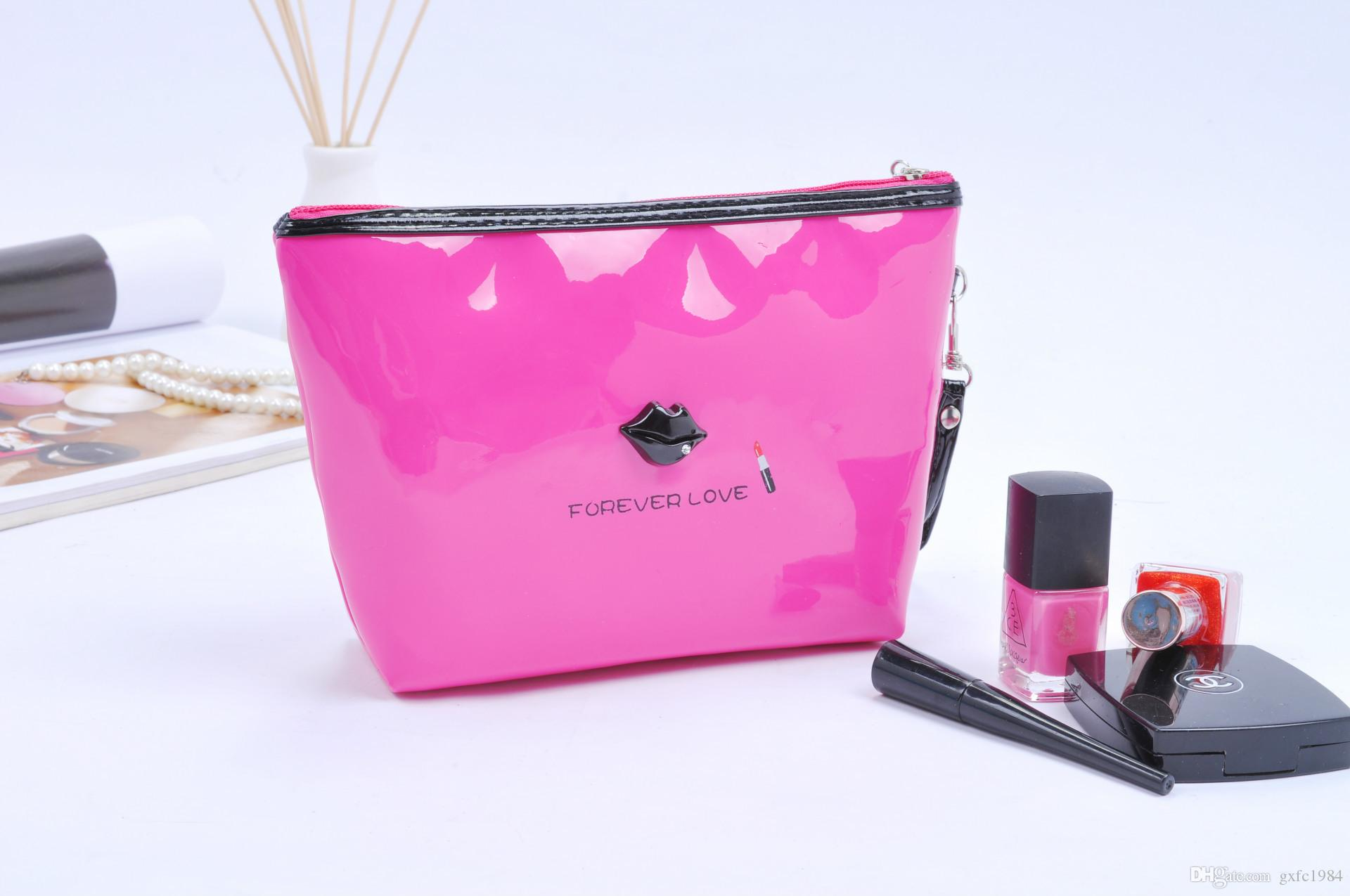New La s Handbag Korean Version of the Portable Travel Multi function Storage Bag Fashion Lips Wash Cosmetic Bag Cosmetic Bag La s Handbag Travel