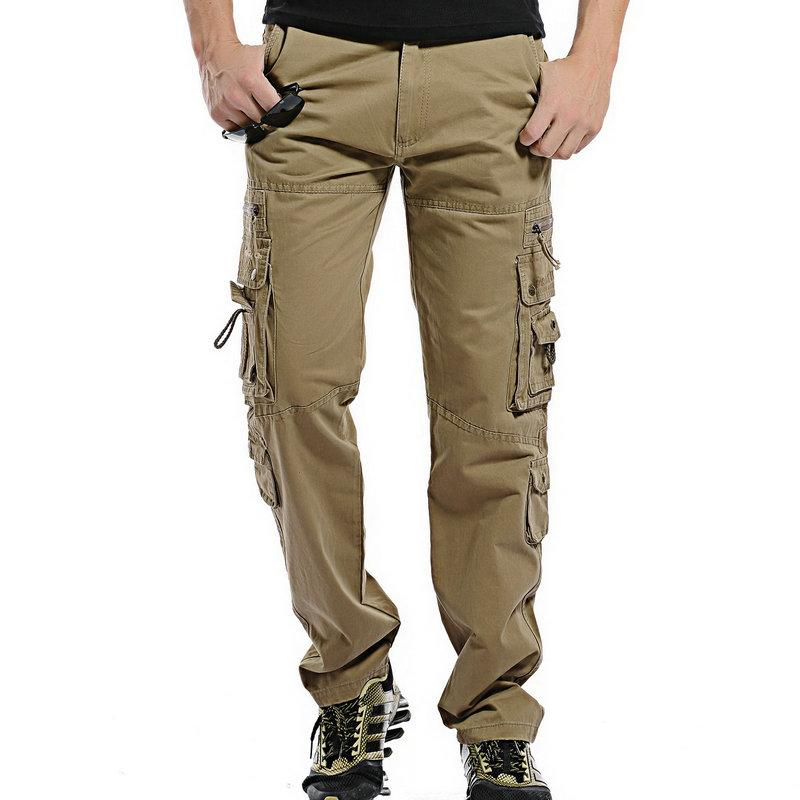 652434b39cc4 2019 2018 Top Fashion Solid Cotton Cargo Pants Men Casual Slim Workout Men  Trousers Multi Pocket From Lbdapparel, $32.58   DHgate.Com
