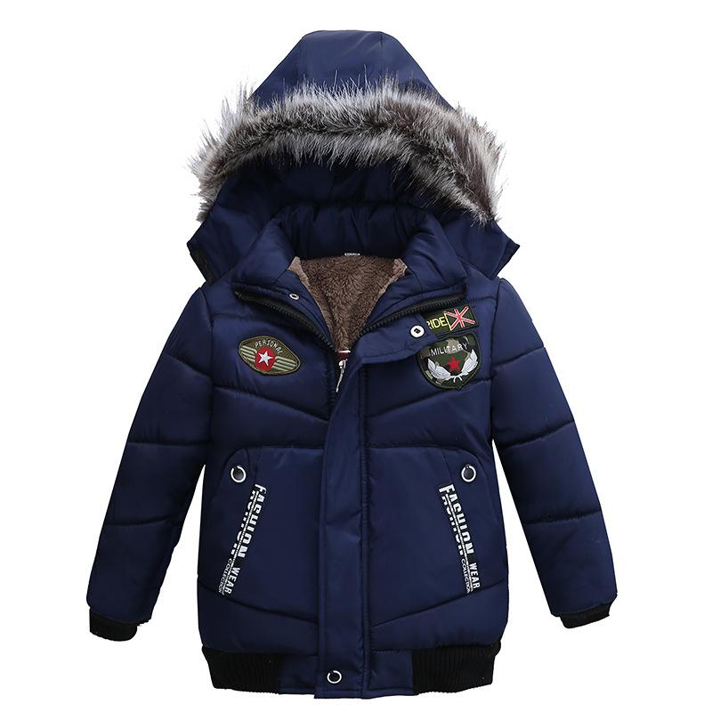 293c4593a51d 2018 Autumn Winter Jacket For Boys Children Hooded Coats Thick Fur ...