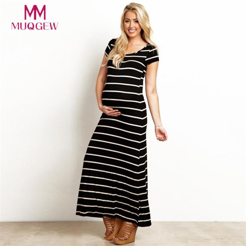 Acquista Vestito Da Maternità Da Donna Completo A Maniche Lunghe A Righe  Abiti Da Gravidanza Lunghi Abito Lungo Maxi Vestido In Gravidanza Estivo A   35.96 ... ae054562e3d