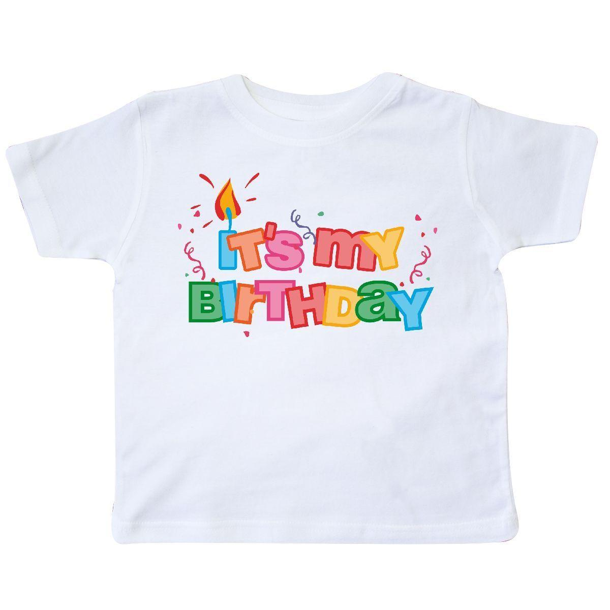 Inktastic It S My Birthday Letters Toddler T Shirt Candle Colorful