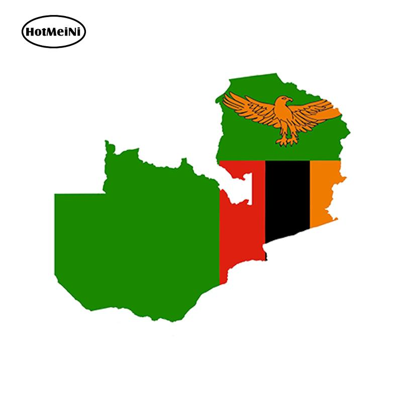 Wholesale Zambia Map Flag Jdm Vinyl Decals Car Stickers Glass Stickers Scratches Stickers Bumper Accessories
