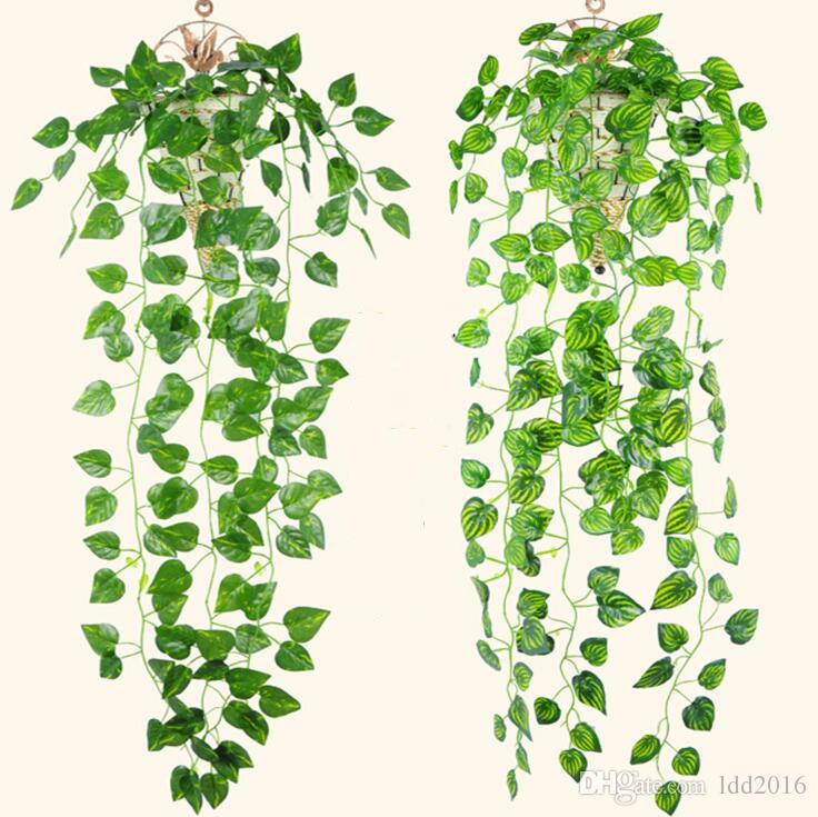 artificial plants hanging baskets green plant ivy leaf artificial flower plastic garland vine artificial flowers wall