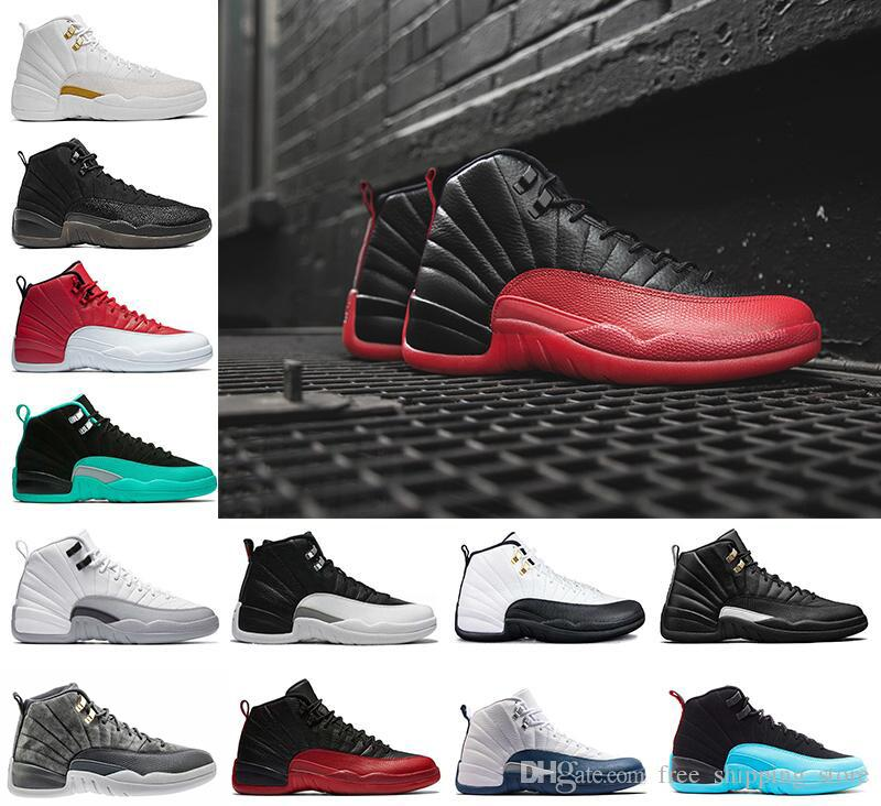 2018 2018 12 Men Basketball Shoes White Black The Master Gs Barons Taxi Flu  Game Gamma French Blue Playoffs Wolf Grey Varsity Red Sneakers From ...