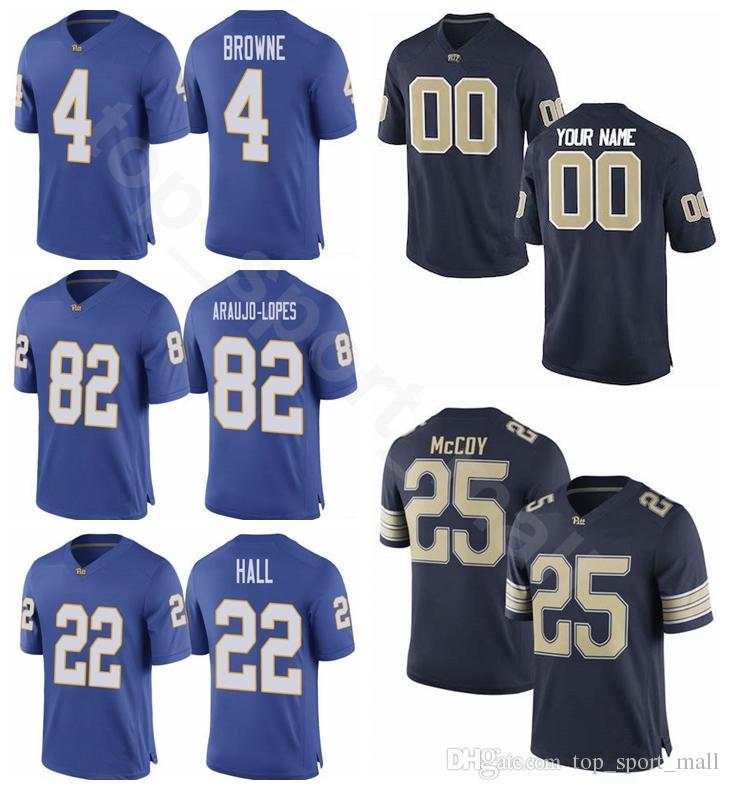 wholesale dealer 40d08 3f524 Pittsburgh Panthers Pitt 1 Larry Fitzgerald Jersey Navy Blue College  Football 82 Rafael Araujo-Lopes 9 Whitehead 10 Quadree Henderson