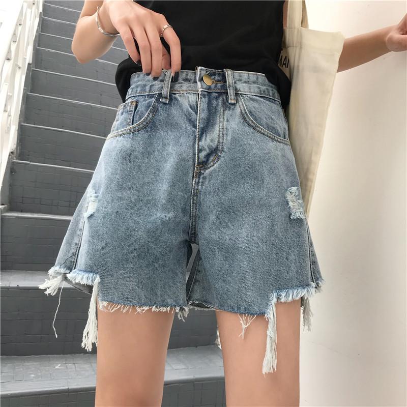 Compre Curto Feminino Azul Curto Mulher Sexy Magro Calça Jeans De Cintura  Alta Casual Denim Shorts Femininos Das Mulheres Hotpants Verão De Bunnier 30434fc1f0589