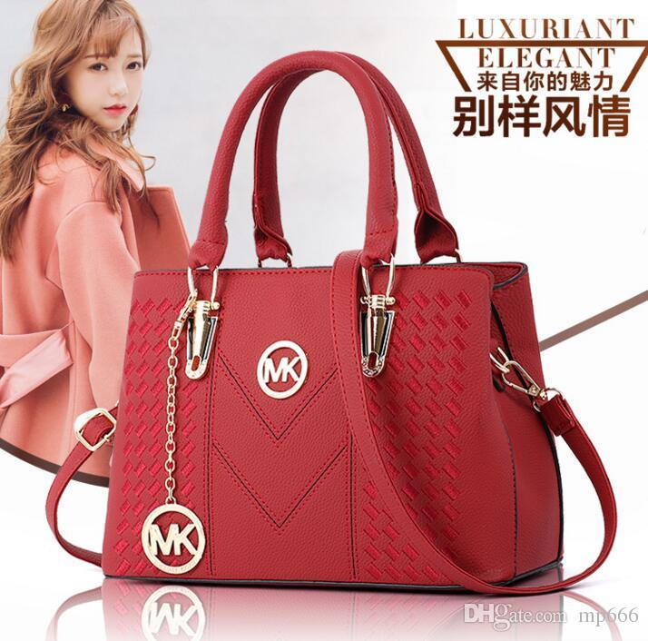 6ec5ce188 2018 New Fashion Luxury Designer Handbags High Quality Valentine Italian Genuine  Leather Bag Rivet Chain Crossbody Bags For Women Shoulder A Discount ...