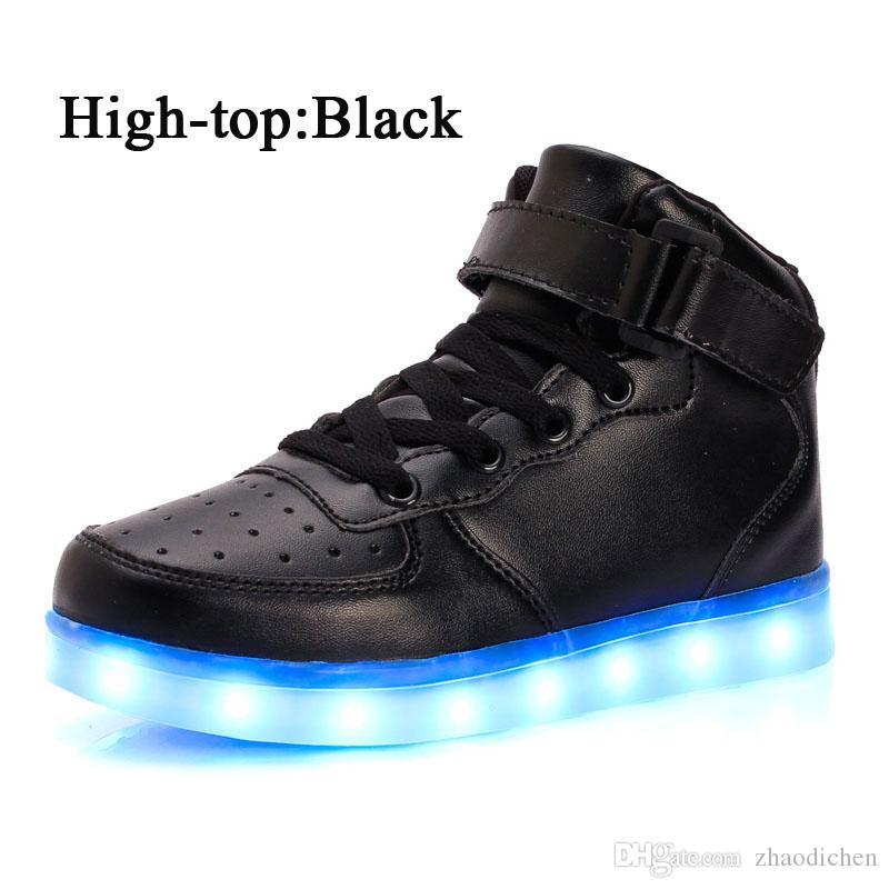 Led Scarpe Uomo Donna USB Light Up Unisex Sneakers Lovers Per Adulti Ragazzi Casual Studenti Sport Incandescente Con Moda High Top Lights eu36 46