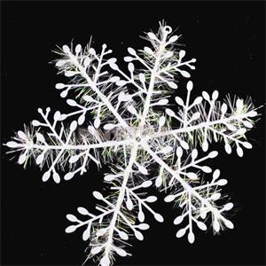 White Christmas Snowflake For Tree Hanging Window Christmas Ornament ...