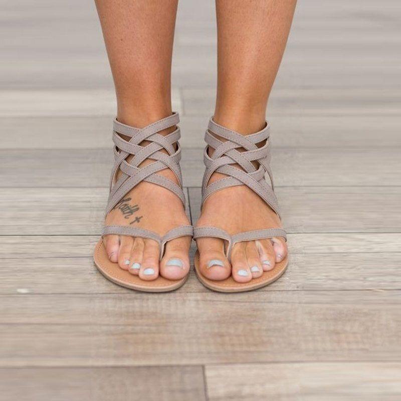 18db4e591 2017 Summer Flat Sandals Ladies Bohemia Beach Flip Flops Gladiator Women  Shoes Sandles Platform Zapatos Mujer Sandalias 1010W Salt Water Sandals  Bridesmaid ...