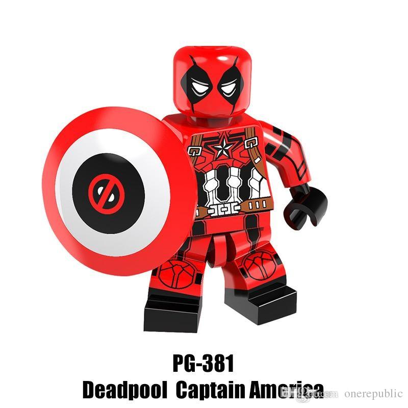 2019 Mix Super Heroes Minifig Big Bane Deadpool Captain America Miss USA  Wolverine Bat Figure PG8093 Mini Building Blocks Figures From Onerepublic,