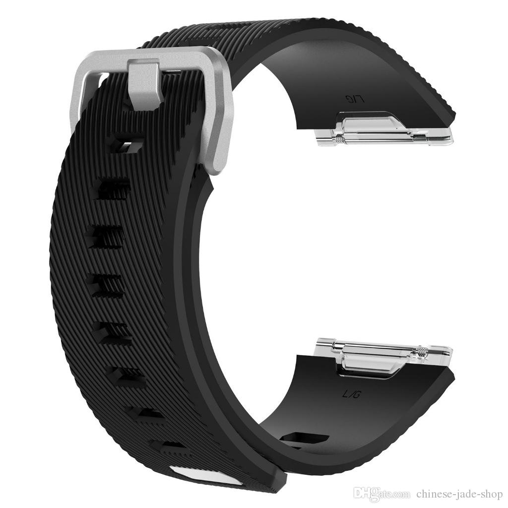 Twill Pattern TPE Silicone Watch Band Wrist Strap Replacement Wristband for Fitbit Ionic Smartwatch Watchbands