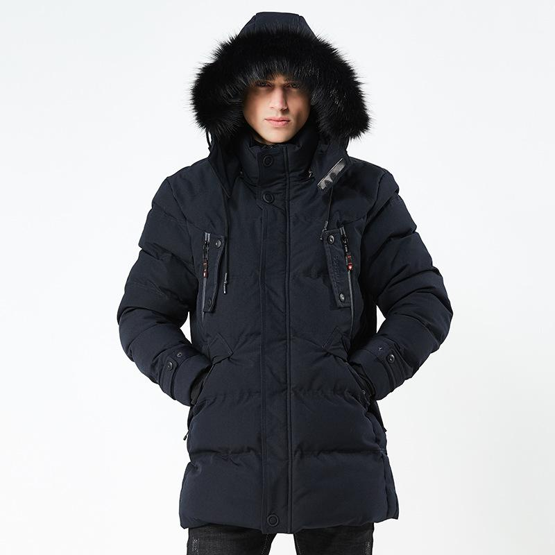 0170287500c Top New 2018 Winter Men Parka Jacket Long Coat Male Thick Cotton-Padded  Jacket High Quality Parka Coat Male Fashion Casual