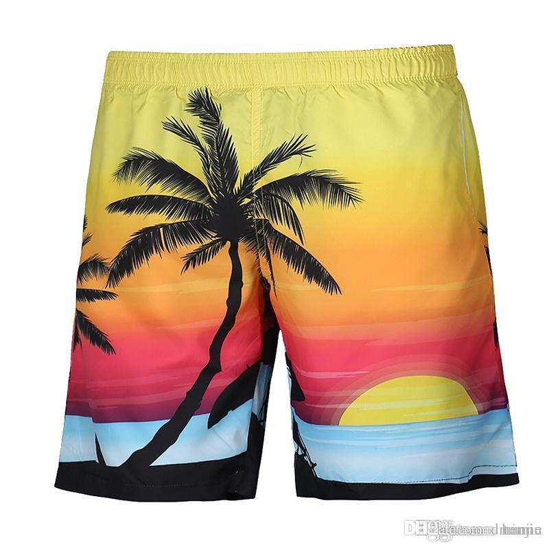 649d3d8373 Vertvie Summer Mens Swim Briefs Printed Shorts Loose Male Swimwear Board  Shorts Beach Boxer Trunks Surf Holiday Swimming Trunks