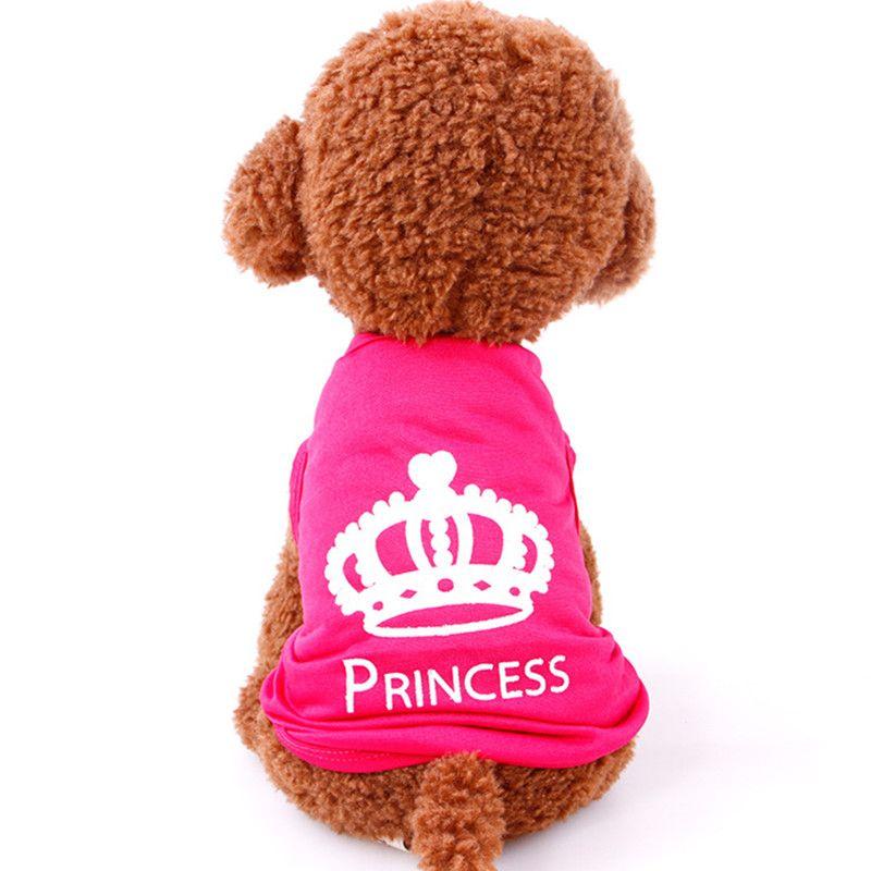 Hot Sale dog T shirt Pet clothing Dog Cat Cute Princess T-shirt Summer Clothes Vest
